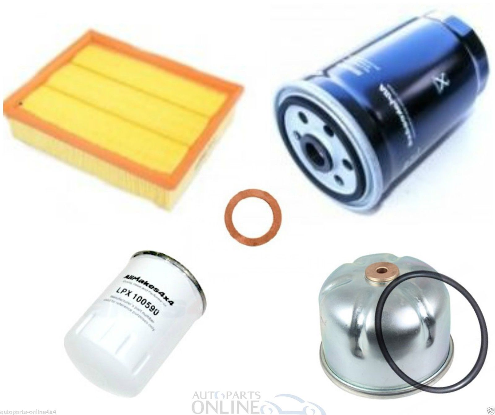 LAND ROVER DISCOVERY 2 TD5 FULL SERVICE KIT, OIL, AIR & FUEL FILTERS BK0014